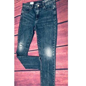gap always skinny high rise sz 27 denim jeans